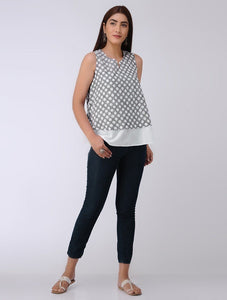 Polka top Top The Neem Tree Sonal Kabra Buy Shop online premium luxury fashion clothing natural fabrics sustainable organic hand made handcrafted artisans craftsmen