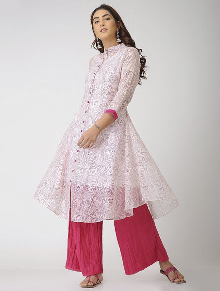 Pristine pink (Set of 2) Jacket dress Sonal Kabra Sonal Kabra Buy Shop online premium luxury fashion clothing natural fabrics sustainable organic hand made handcrafted artisans craftsmen