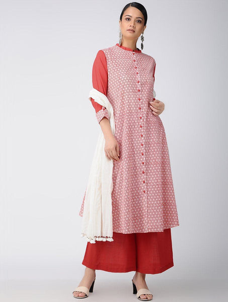 Red jacket dress Jacket dress Sonal Kabra Sonal Kabra Buy Shop online premium luxury fashion clothing natural fabrics sustainable organic hand made handcrafted artisans craftsmen