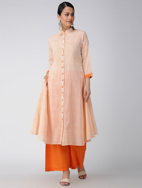 Saffron jacket dress Jacket dress Sonal Kabra Sonal Kabra Buy Shop online premium luxury fashion clothing natural fabrics sustainable organic hand made handcrafted artisans craftsmen