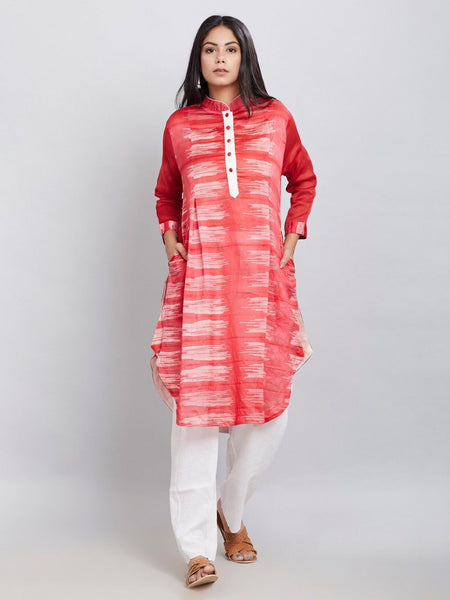 Shibori kurta Dress Sonal Kabra Sonal Kabra Buy Shop online premium luxury fashion clothing natural fabrics sustainable organic hand made handcrafted artisans craftsmen