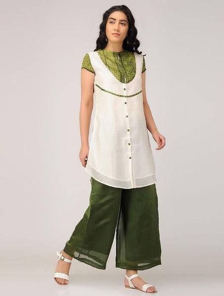 Shibori kurta Kurta Sonal Kabra Sonal Kabra Buy Shop online premium luxury fashion clothing natural fabrics sustainable organic hand made handcrafted artisans craftsmen