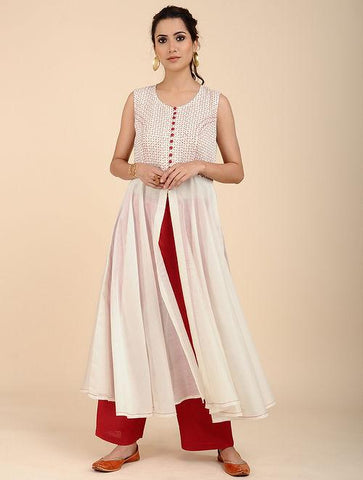 Umbrella dress Kurta Sonal Kabra Sonal Kabra Buy Shop online premium luxury fashion clothing natural fabrics sustainable organic hand made handcrafted artisans craftsmen