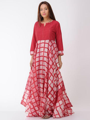 Umbrella maxi dress Kurta Sonal Kabra Sonal Kabra Buy Shop online premium luxury fashion clothing natural fabrics sustainable organic hand made handcrafted artisans craftsmen