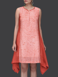 Water fall red dress Dress Sonal Kabra Sonal Kabra Buy Shop online premium luxury fashion clothing natural fabrics sustainable organic hand made handcrafted artisans craftsmen
