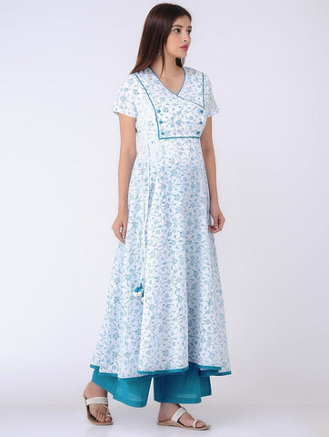 Yoke dress Dress The Neem Tree Sonal Kabra Buy Shop online premium luxury fashion clothing natural fabrics sustainable organic hand made handcrafted artisans craftsmen