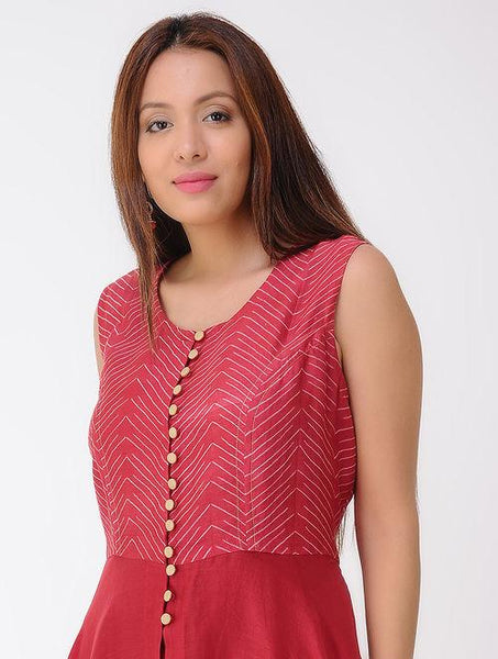 Zigzag shibori dress Dress Sonal Kabra Sonal Kabra Buy Shop online premium luxury fashion clothing natural fabrics sustainable organic hand made handcrafted artisans craftsmen