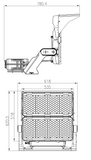 HF2 Series Floodlight Dimensions