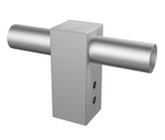SL2 100mm Square Pole Adaptor - Double Spigot - Integrated Power