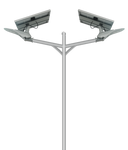 SS Series Solar LED Streetlight - 20W - Integrated Power
