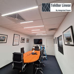 Tekbar linear LED lighting - conference room design