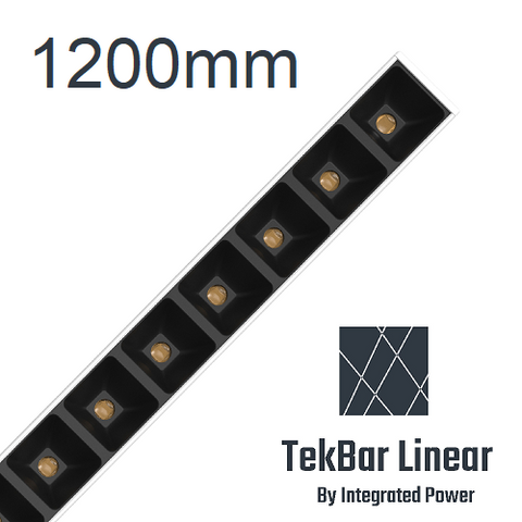 TekBar linear-low glare black 1200mm
