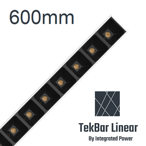 TekBar linear-low glare black 600mm