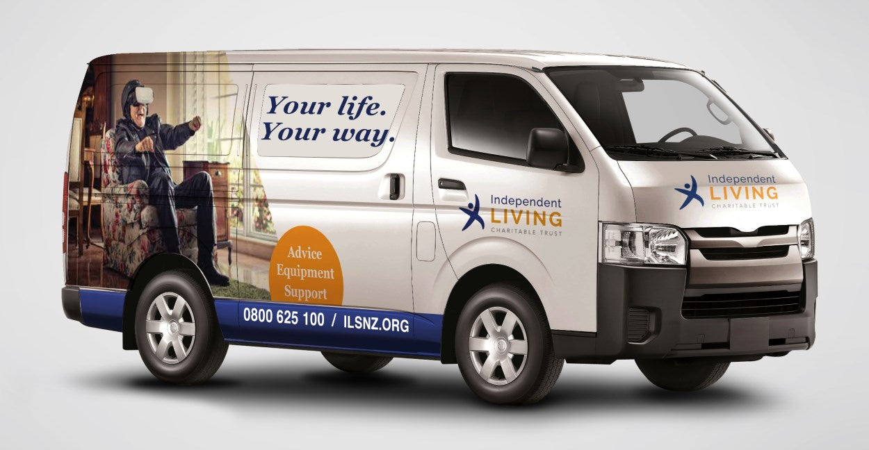 A side view of the Independent Living Mobile Van
