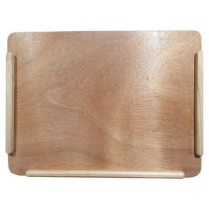 Wooden Lap Tray top view