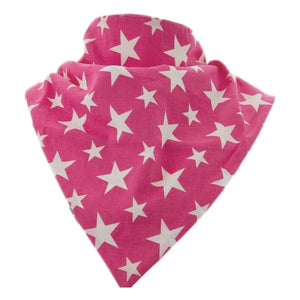 Brolly Sheets Bandana Bib / Pink with Stars