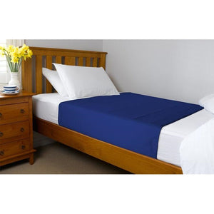 Brolly Sheets Bed Pad with Wings Navy