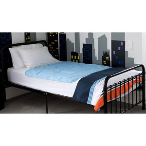 Brolly Sheets Bed Pad without Wings Blue