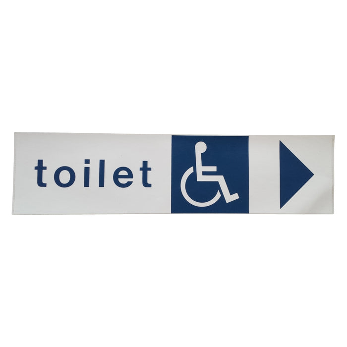 Toilet Disability Sign with Arrow