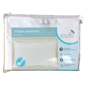 Brolly Sheets Waterproof Pillow Protector / Cotton