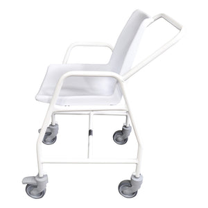 Mobile Shower Chair with Castors Side