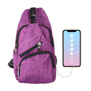 Anti Theft Day Pack Regular - Plum