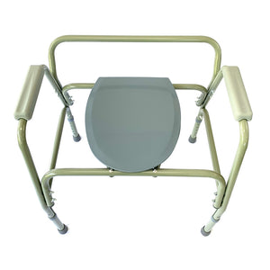 Wairoa Bariatric Steel Commode Top View