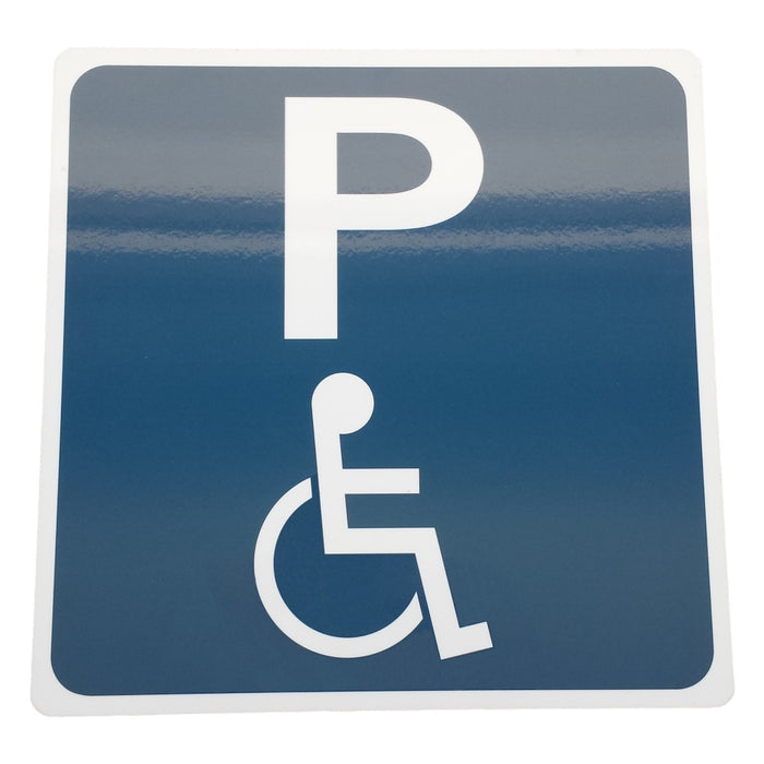 Plastic Disability Parking Sign with 'P'