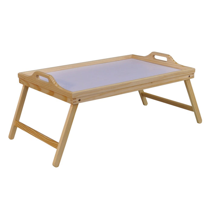 Folding Wooden Bed Tray with Handles