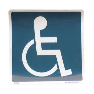 Plastic Disability Sign with Adhesive