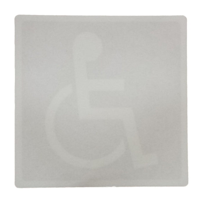 Disability Sign with Adhesive for Windows