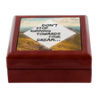"Inspiring Motivational Keepsake Box - ""Don't Stop Running Towards Your Dream"""