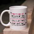 "Sister Coffee Mug - Unique Big Sister Gift Idea - Older Sister Present -""To My Big Sis"""