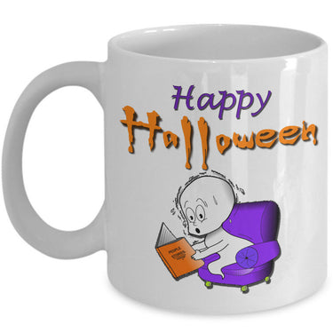 Halloween Coffee Mug- Funny Halloween Gift For Adults - Cute Ghost Mug -