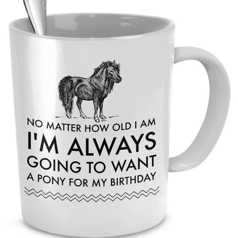 Horse Coffee Mug - Horse Lovers Birthday Gift -