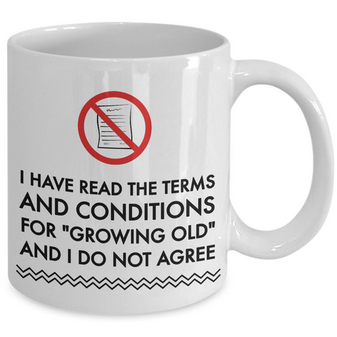 Seniors Coffee Mug - Funny Old Age Retirement / Grandma Or Grandpa Gift -