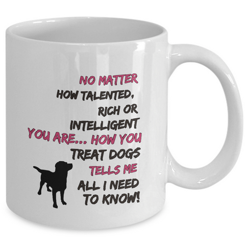 Dog Coffee Mug - Dog Lovers Gift -