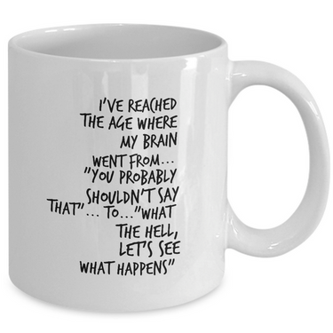 Seniors Coffee Mug - Funny Retirement, Grandparents Or Old Age Mug - Grandma Or Grandpa Mug -