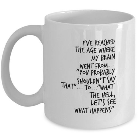 Seniors Coffee Mug - Funny Retirement Or Grandma / Grandpa Gift Idea -