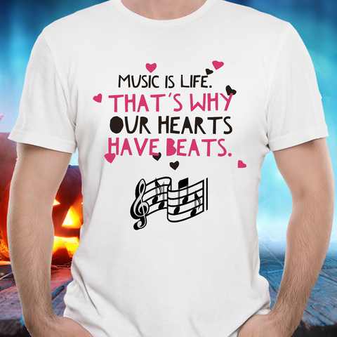 Music Lovers T Shirt - Music Lovers Gift Idea -