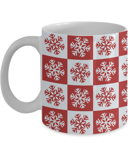 "Christmas Coffee Mug - Snowflakes Coffee Mug - Winter Mug - ""Snowflakes"""