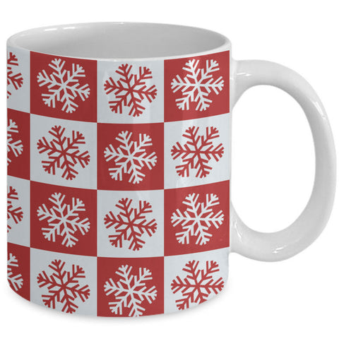 Christmas Coffee Mug - Snowflakes Coffee Mug - Winter Mug -