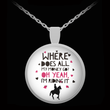 "Horse Necklace - Funny Horse Pendant For Women - Horse Jewelry For Girls - Horse Lovers Gifts - ""Where Does All My Money Go Oh Yeah I'm Riding It"""