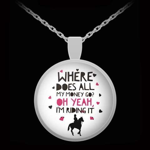 Horse Necklace - Funny Horse Lovers Gift For Women - Horse Jewelry -