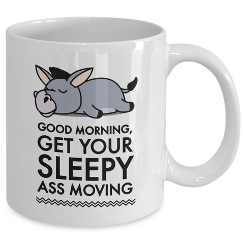 Donkey Mug - White 11oz Ceramic Donkey Coffee Mug - Gift For Donkey Lovers - Donkey Products - Donkey Cups - Donkey Gifts -