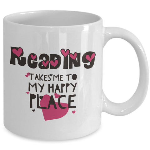 Reading Coffee Mug - Book Lovers Gift For Readers - Book Mug -