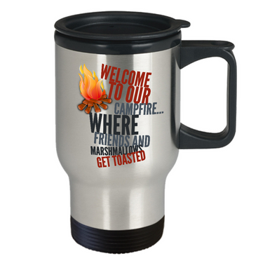 Camping Travel Mug - Stainless Steel Campers Mug - Camping Gift Idea -