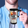 "Camping Travel Mug - Stainless Steel Campers Mug - Camping Gift Idea - ""Welcome To Our Campfire"""