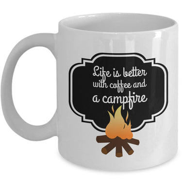 Camping Coffee Mug - Ceramic Gift Mug For Campers -
