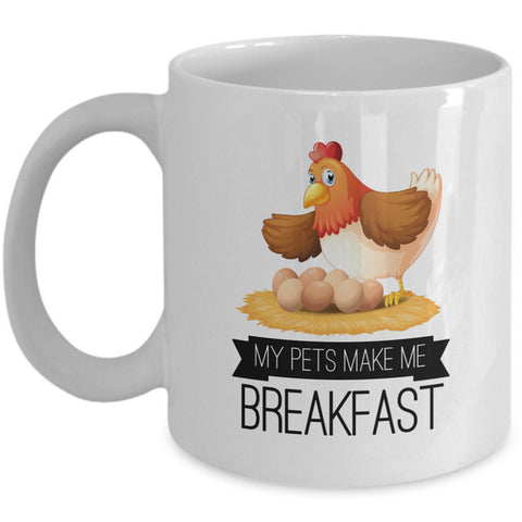 Chicken Coffee Mug - Chicken Lovers Gift - Chicken Owners Gift -
